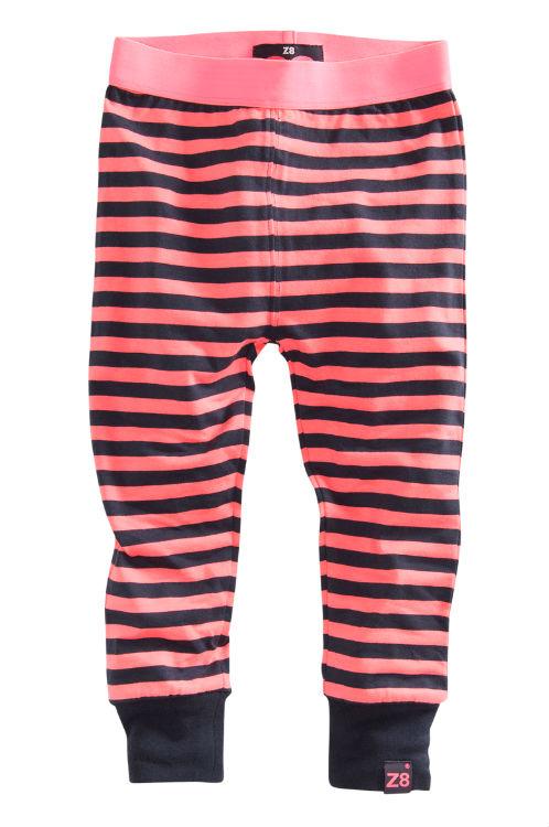 8b4f5a3163be21 Z8 meisjes legging Veerle antraciet-pink-stripes 86 - Bink en Blink