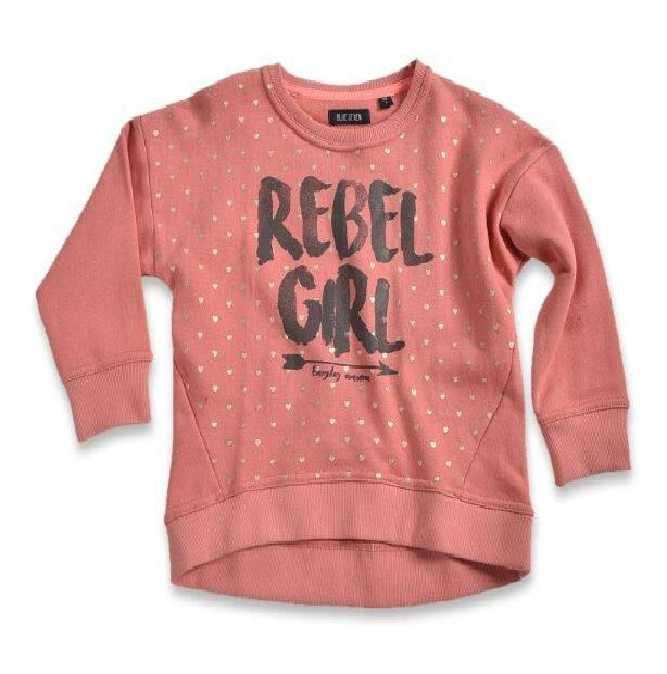 Blue Seven Kinderkleding.Blue Seven Meisjes Sweater Rebel Girl Coral 92 128 Bink En Blink