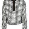 Kiestone meisjes blouse black-white ruit 110/158