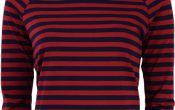 King Louie Sarah Top two Tone stripe cherry red S/XL
