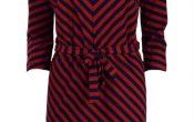 King Louie Missy Dress two tone stripe cherry red S/XL