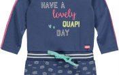 Quapi babykleding meisjes jurk Fabiola jeans blue 62