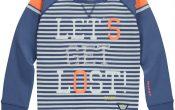 Quapi jongens Flint sweater white stripes 146/152