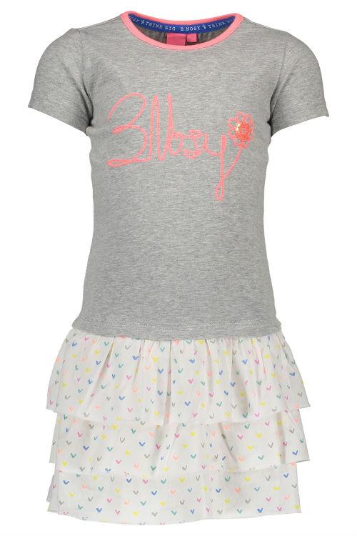 e5e7863cb97d5b B Nosy meisjes jurk grey melee 110 116 - Bink en Blink