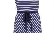 King Louie Ella Dress breton stripe nuit blue S