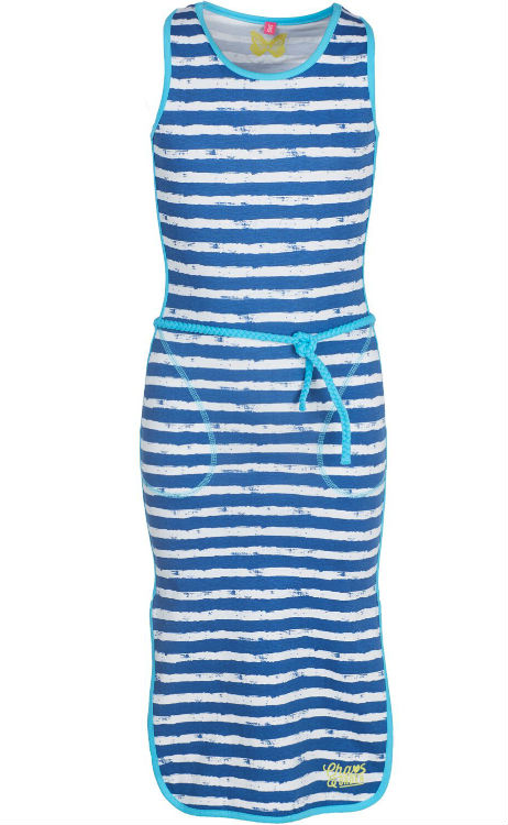 fcbcb33272ddc5 Chaos and Order meisjes lange jurk Gloria bright blue 134 140 - Bink ...