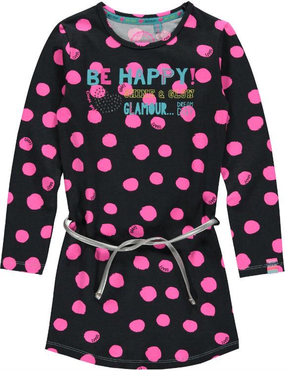 f30c7f9378b808 Quapi meisjes jurk Goldy antraciet dots 86 134 - Bink en Blink