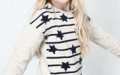 Like Flo sweater stripe en stars F708-5314 104/152