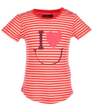 Flo Baby Girls T-shirt Loes Tomato-Stripes