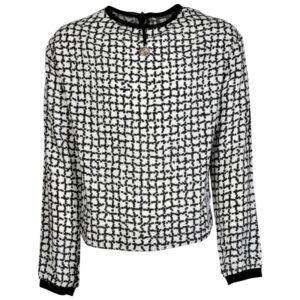 Kiestone meisjes blouse black-white ruit