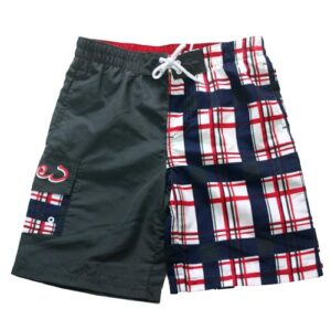 Knot so bad zwemshort ruit rood/wit/blauw