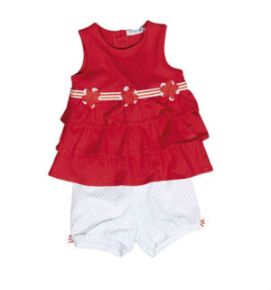 UBS2 Baby Girls set rood/wit