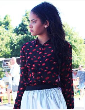 Heav'n dames blouse Panama black XS/XL