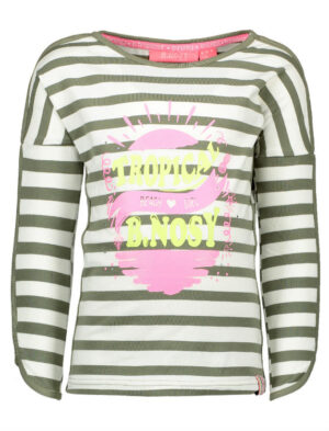 B.Nosy girls long sleeve stripe shirt