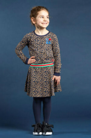 Quapi meisjes jurk Tacey Leopard