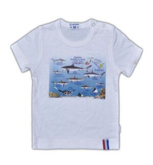 Claesen's Baby Boy Shirt White Fish