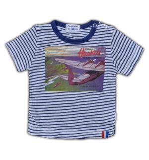 Baby Boys Shirt Navy -white stripes