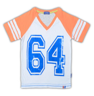 Claesen's Boys V-Neck T-Shirt White/Orange
