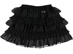 Le Chic Girls Rok met laagjes zwart