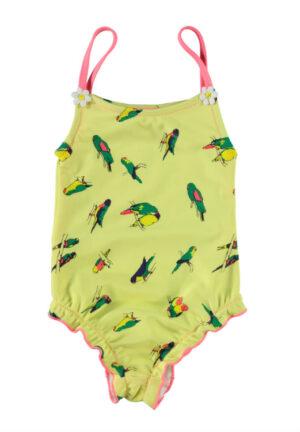 Claesen's Baby Girls Badpakje Parrot Print