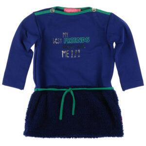 Kiezeltje Mini Dress Kobalt Blue Teddy