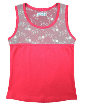 Lofff Girls Heart Top Fuchsia