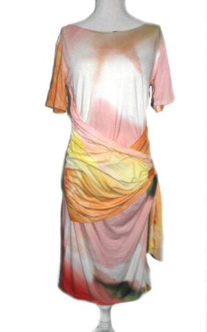 PepperZ dames jurk bloem met mouw