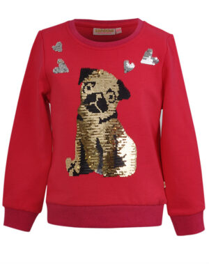 Someone sweater Pugg zilver-goud medium pink
