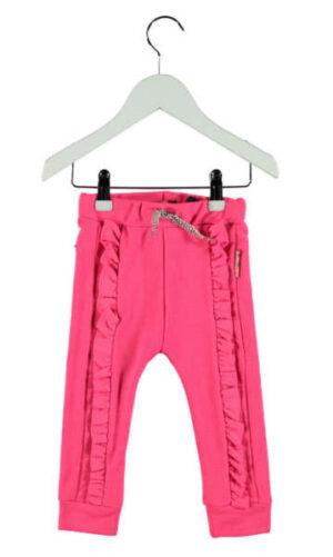 B Nosy baby meisjes sweatpants with ruffle magneta 62-92
