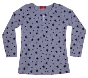 Claesen's Girls T-shirt Star Grey