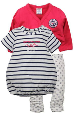 Dirkje Baby 3 delige set Nautic Harbor Blauw 56-80