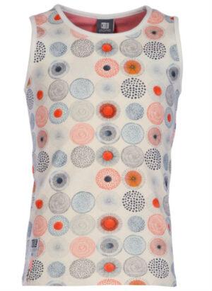 Kiestone KS4883 top print circles coral