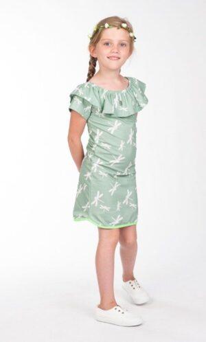 Kiestone meisjes jurk green dragonfly KS5448