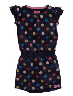Z8 meisjes jurk Janine royal blue aop