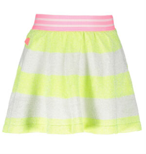 B.Nosy knitted lurex stripe skirt electric yellow