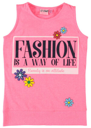 O'Chill mouwloos t-shirt Ilse pink