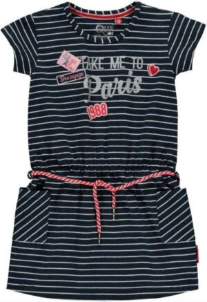 Quapi meisjes jurk Samira navy stripe