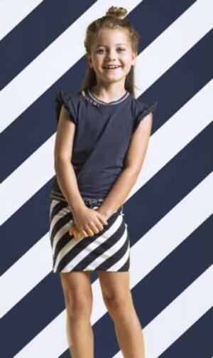 Quapi jurk Sabina navy stripe