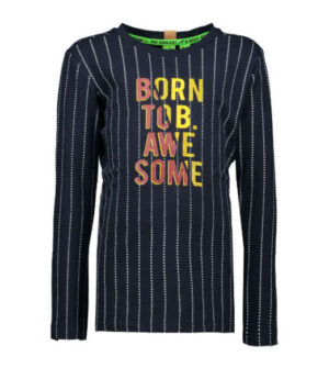 B.Nosy boys ls shirt dot stripe ink blue Y908-6436