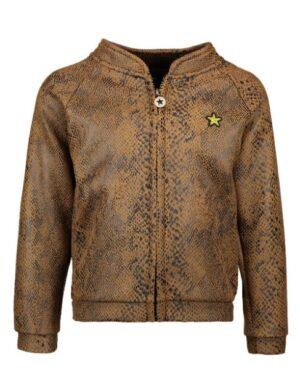 Flo girls snake baseball jacket F908-5335
