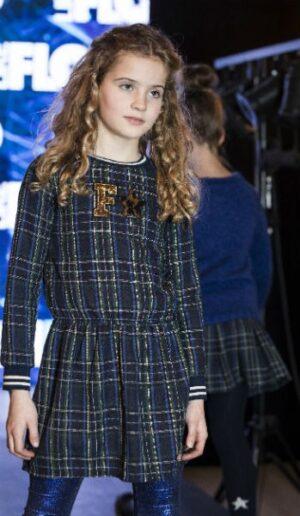 Flo girls scottish ruffle dress F908-5820