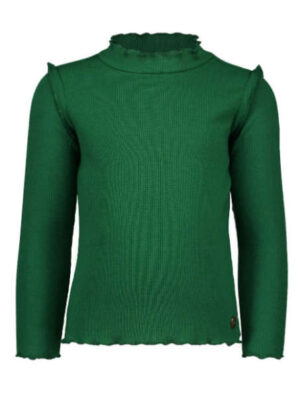 Like Flo girls rib turtle neck green F909-5424