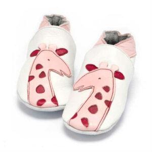 Baby Dutch meisjes babyslofje Giraf roze