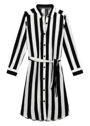 Levv meisjes jurk Fabien zwart-witte streep