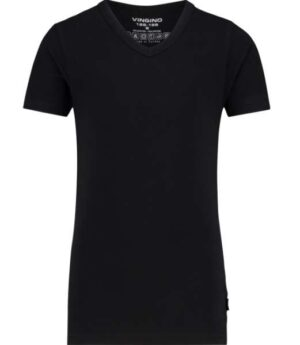 Vingino jongens short sleeve v neck t-shirt black