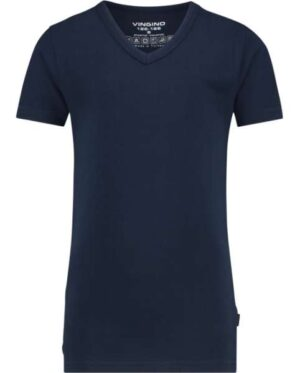 Vingino jongens short sleeve v neck t-shirt dark blue