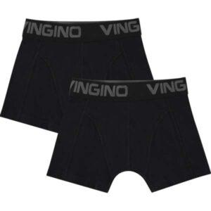 Vingino jongens boxershort basic 2-pack zwart