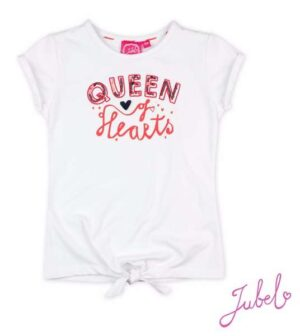 Jubel meisjes t-shirt Queen Funbird wit