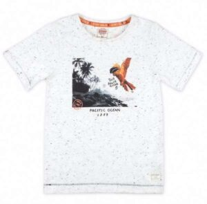 Sturdy jongens t-shirt fotoprint wit