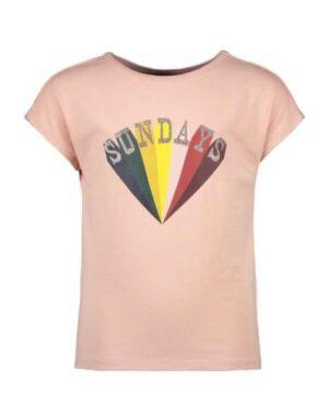 Like Flo meisjes t-shirt light pink F002-5402